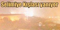Selimiye Kışlası'nda korkutan yangın