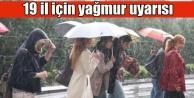 Şemsiyeleri hazırlayın, 19 ilde yağmur geliyor