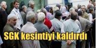 SGK, Emekli maaşından kesilen primi kaldırılıyor