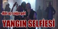 Şişli'de yangın; İtfaiye yangın, vatandaş selfie derdine düştü
