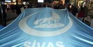 Sivas Ülkü Ocakları'ndan Doğu Türkistan protestosu
