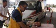 Su dolu kovaya düşen çocuk, son anda kurtarıldı