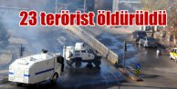 Sur, Silvan, Cizre ve Silopi'de Süperme Operasyonu: Öldürülen terörist sayısı 23'e çıktı
