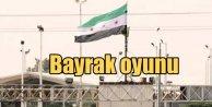 Suriye Türkiye sınırında bayrak oyunu