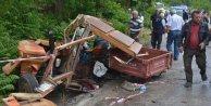 Tanker- Traktör Çarpıştı; 3 Ölü