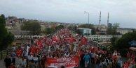 TGB'liler, Dağlıca şehitleri için Kadıköy'den Selimiye'ye yürüdü