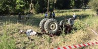 Traktör devrildi: 1 ölü 3 yaralı