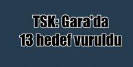 TSK açıkladı: Kuzey Irak Gara'da 13 hedef vuruldu
