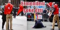 Türk bayrağını yakmaya çalaşın Ermeniye Azeri dersi