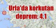 Urlada deprem: Urla 4.1 ile sallandı