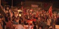 Üsküdar'da terörü protesto yürüyüşü...