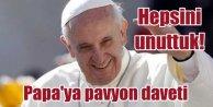Vatikan heyetini Türk Pavyonu'na davet ettiler