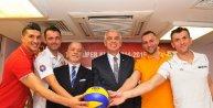 Voleybolda Erkekler Süper Kupa Dörtlü Finali basın toplantısı yapıldı