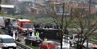 Yolcu minibüsü devrildi, 4 kişi yaralandı