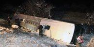 Yolcu Otobüsü devrildi 18 yaralı