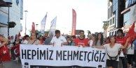 Zafer Bayramı'nda teröre tepki yürüyüşü