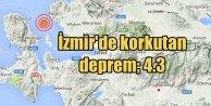 İzmir'de deprem, 4.3, İzmir Körfezi'nde korkutan deprem