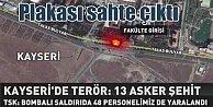 Kayseri'de patlama; Bombalı araç plakası sahte çıktı