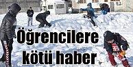 Kar tatiline sevinen öğrencileri bakanlıktan kötü haber