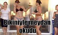 Hülya Avşar'dan bikinili dans gösterisi