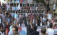 MHP Fatih ilçe teşkilatı meydanlara indi: Beyazıt'ta Kerkük eylemi