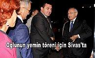 Kılıçdaroğlu oğlunun yemin töreni için Sivas'ta
