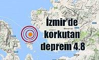 Son Dakika Deprem, İzmir'de deprem; İzmir Körfezi 4.8 ile sallandı