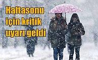 Son Dakika Hava Durumu: İstanbul'a haftasonu kar geliyor