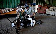 Sokak hayvanlarının fedakar dostu