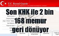 Son KHK ile  bin 813 kişi göreve iade edildi