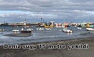 Tekirdağ'da deniz suyu 15 metre çekildi