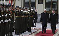 Başbakan Yıldırım Belarus'ta resmi törenle karşılandı