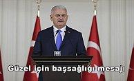 Başbakan Yıldırım'dan Güzel için başsağlığı mesajı