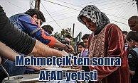 Mehmetçik'in ardından AFAD, Cinderesi'ne ulaştı