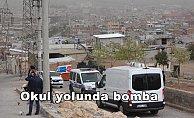 Okul yolunda bomba