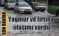 Son Dakika Hava Durumu İstanbul'u yağmur vurdu