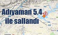 Adıyaman#039;da deprem oldu: Adıyaman Samsat 5.4 ile sallandı