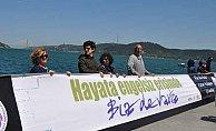Dünyanın en büyük pankartı Sarıyer'de açıldı