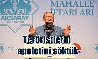 Cumhurbaşkanı Erdoğan: Biz terörist olanın apoletini söktük