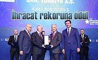 İhracat rekoru kıran Toyota Otomotiv'e ödül