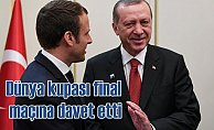 Macron, Erdoğan'ıDünya Kupası final maçına davet etti.