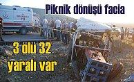 Piknikten traktörle dönüşte facia; 3 ölü 32 yaralı var