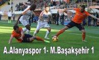 Lider Başakşehir, Alanyaspor'a takıldı