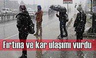 Bugün hava nasıl olacak? Kar ve fırtına İstanbul'u esir aldı
