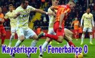 Fenerbahçe'den kritik 3 puan kaybı