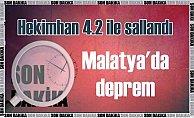 Malatya'da deprem; Hekimhan 4.2 ile sallandı