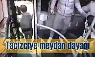 Otobüsteki tacizciyi meydan dayağı; Vatandaş polise teslim etti
