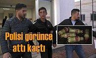 Polisin takip ettiği genç, PKK'nın patlayıcılarını attı kaçtı