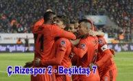Beşiktaş Rizespor'atarihi fark attı