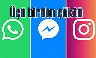 Facebook çöktü, Whatsapp çalışmıyor, Instagram ise girilmiyor
